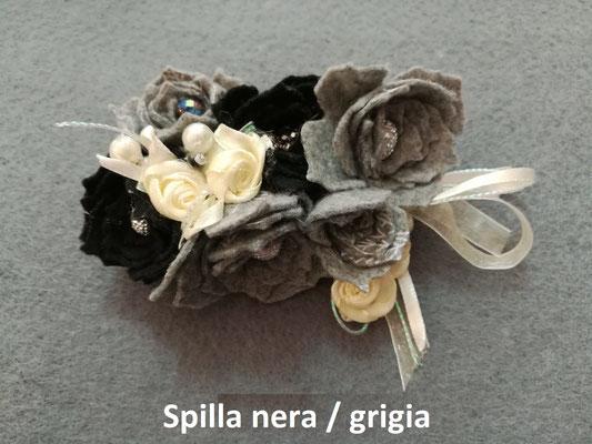 Spilla nera/grigia