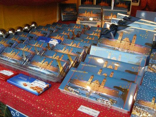 Weihnachtsmarkt auf diverse Schoggi und Pralines