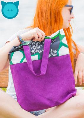 Tasche Uno Blumenmuster, lila | Fotograf: David Kastner