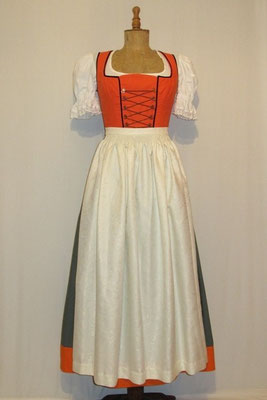 Dirndl grün-orange