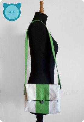 Tasche Pangaea beige, grün