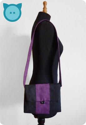 Tasche Pangaea schwarz, violett