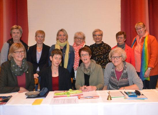 Vorstandsfoto mit der Kreisversitzenden Margret  Albrecht
