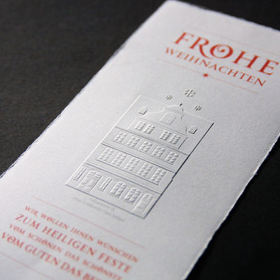 Blindprägung Einladungskarte