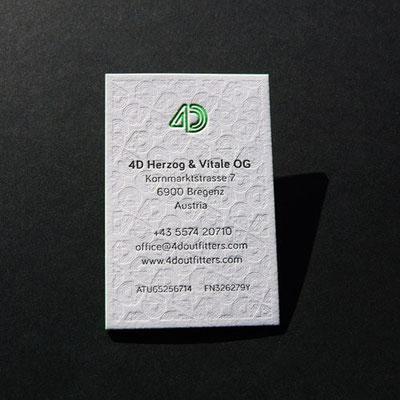 Letterpress Visitenkarten