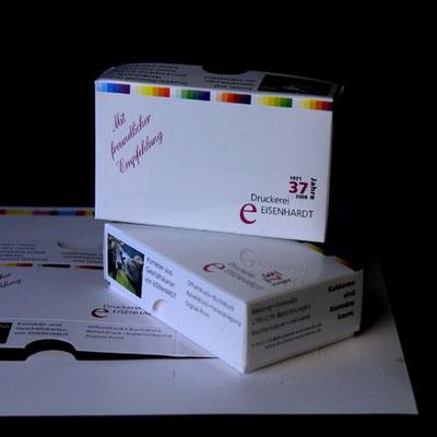 Visitenkarten Schachteln Stanze.