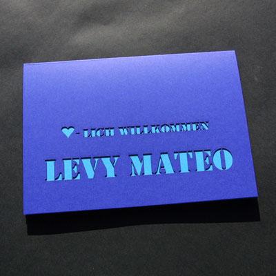 Laserstanze für Schriftmotive.