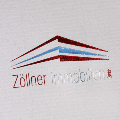 Firmen Logo Heißfolienprägung