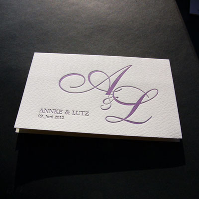 Letterpress Hochzeitskarte