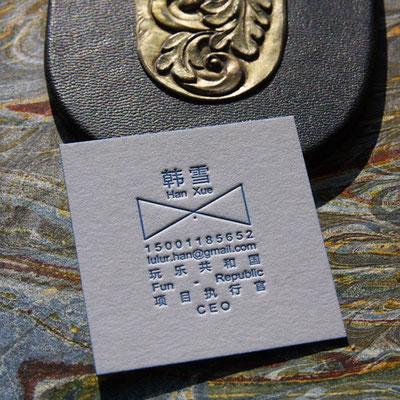 Visitenkarte Letterpress