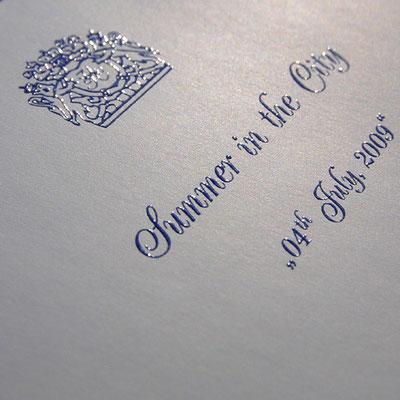 Reliefdruck Einladungskarte