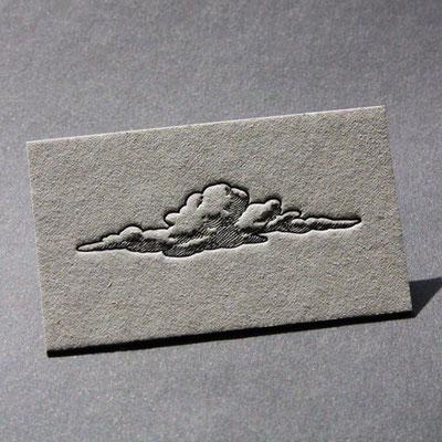 Letterpress Karte auf Graukarton