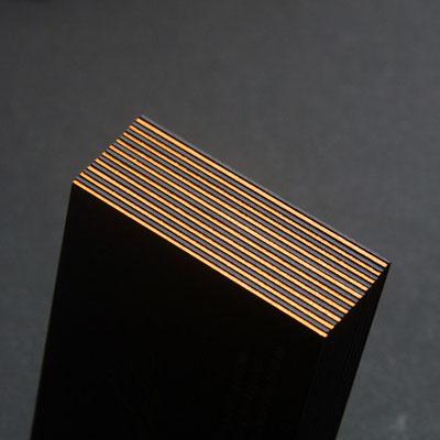 Visitenkarte Kupfer Gedruckt Mit Farbschnitt