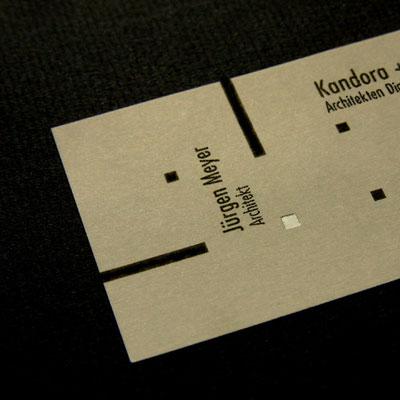 Heißfolienprägung Visitenkarte