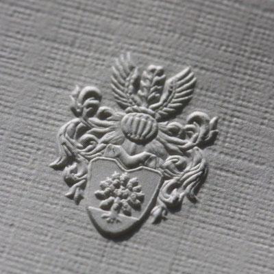 Wappen Blindprägung