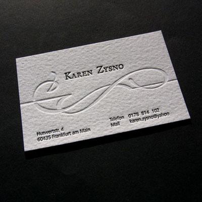 Letterpress Visitenkarte