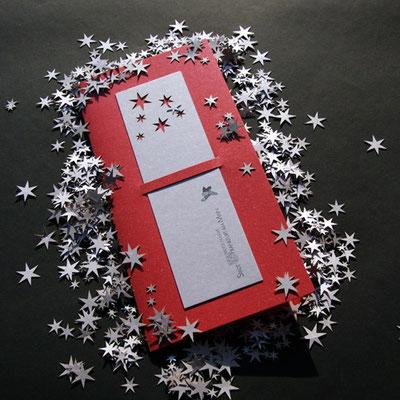 Laserstanze Motiv Weihnachtssterne.