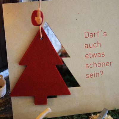 Weihnachtskarte gelasert