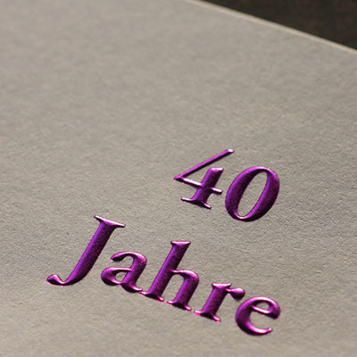 Heißfolienprägung Einladungskarte
