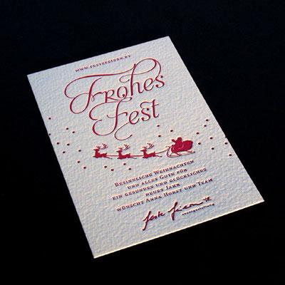 Letterpress Weihnachtskarte