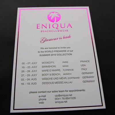 Einladungskarte mit Heißfolienprägung
