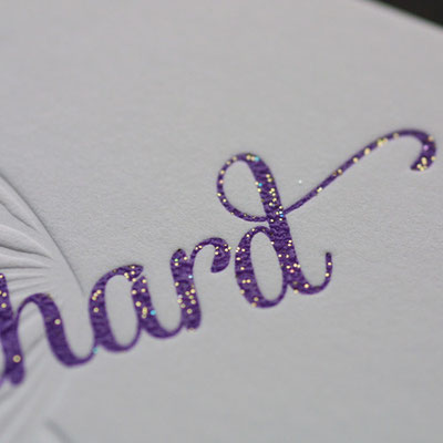 Letterpress mit Glitter