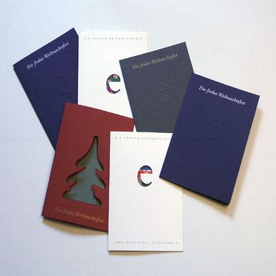 Logostanze für Weihnachtskarte.