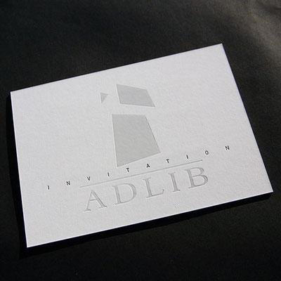 Letterpress Einladungskarte