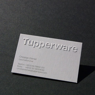 Blindprägung Tupperware