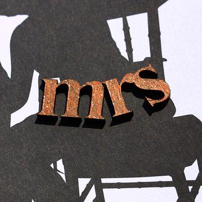 Hochzeitskarten mit Holzelementen