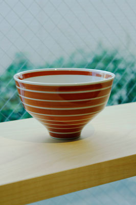 "Arita Porcelain Ware ""Komasuji Red""  ¥1,944  ■Pottery ■Size: φ12 H7.5cm ■Microwave &Dishwasher Safe"