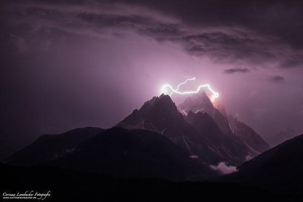 Gewitter an der Dreischusterspitze - Sextener Dolomiten