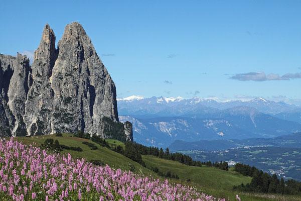 Seiser Alm, Schlern-Spitzen und Weitblick - Dolomiten 2012