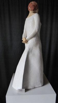 Fanny, hoogte 60 cm, witte chamotteklei 0-1 mm, glazuurbrand 1070`C