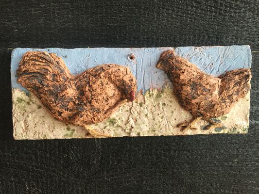 Kippentegel Haan & Kip,  32 x 12 cm, rode chamotteklei 0-2 mm, glazuurbrand 1060 `C