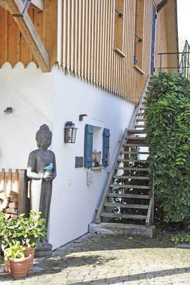 Eingang in den Yogaraum