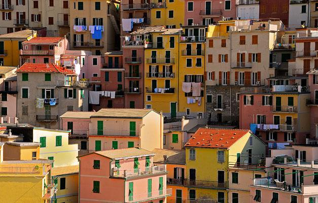 Farben in Beton - Manarola - Cinque Terre - Ligurien