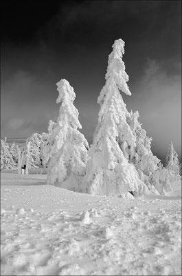 Winterland auf dem Brocken im Harz