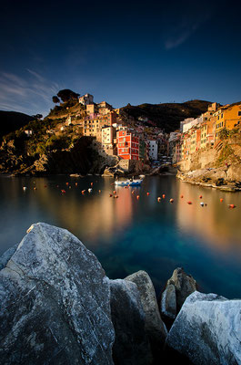 Der Hafen von Riomaggiore - Cinque Terre - Ligurien