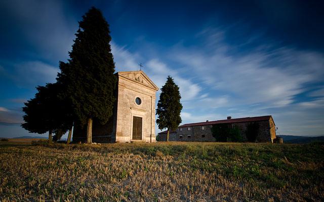 Cappella della Madonna di Vitaleta - Val d´Orcia - Toskana