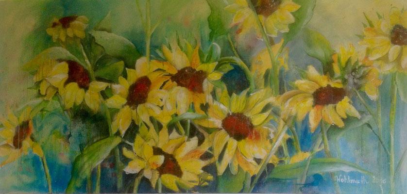 sunflowers, 150x70
