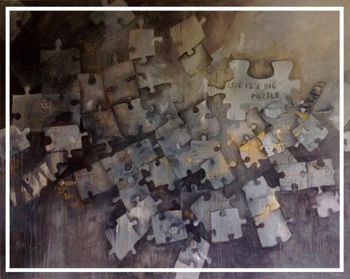 life is a big puzzle, 120x150