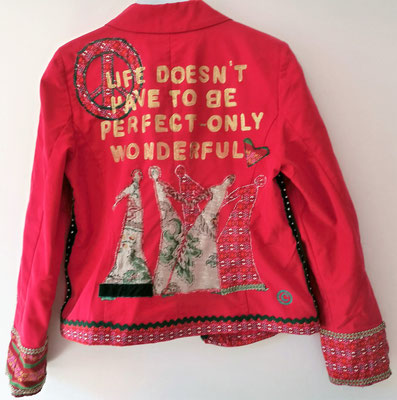 """Baumwoll-Blazer, Modell 26, """"wonderful life"""""""