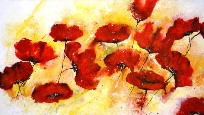 poppy flowers, 153x88