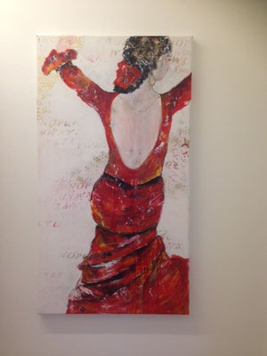 """she loves to dance Flamenco"", 110x60"