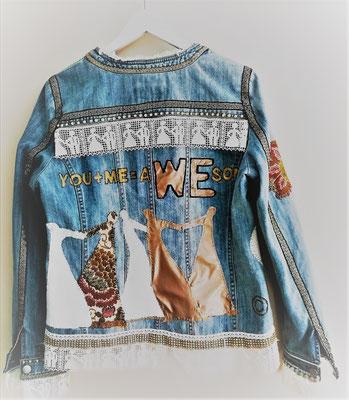 "Jeansjacke, ""WE"" - personalisierte Hochzeitsjacke, M 14"