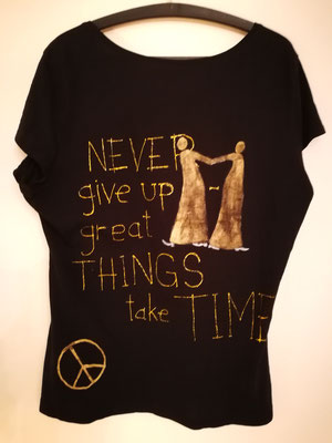 "Shirt, ""great things take time"", Gr L"
