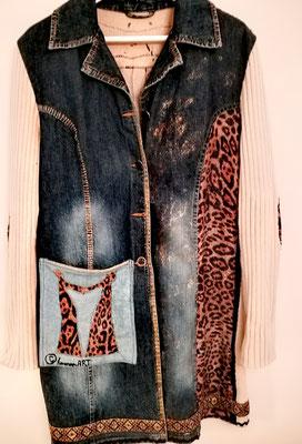 lange Jeans-Strickjacke, Gr 40
