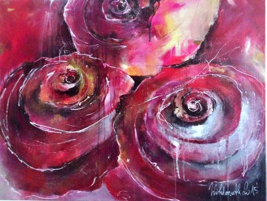 Blüten magenta, 120x100