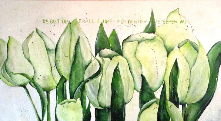 Frühlingsgruß, 180x100